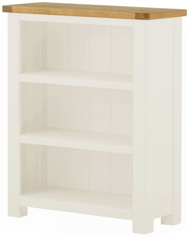Portland White Painted Small Bookcase