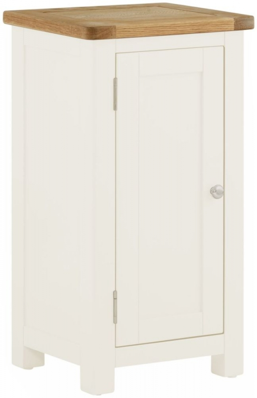 Portland Oak and White Painted 1 Door Hall Cabinet