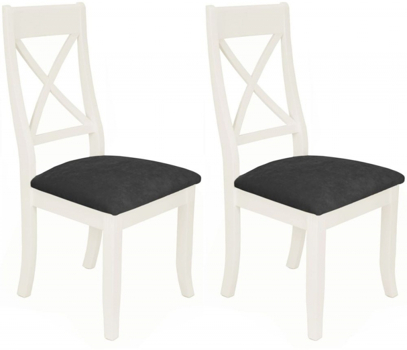 Miraculous Portland White Painted X Back Dining Chair Pair Ibusinesslaw Wood Chair Design Ideas Ibusinesslaworg