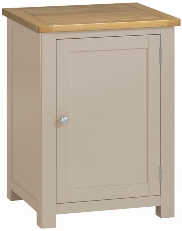 Portland Office Cabinet - Oak and Stone Grey Painted