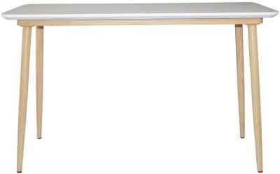 Portofino White and Oak Console Table