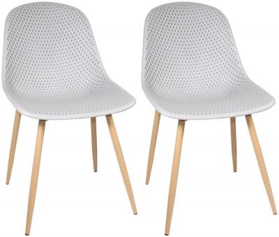 Portofino Light Grey Dining Chair (Pair)