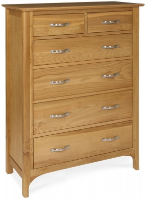 Provence Oak Chest of Drawer - 2 Over 4 Drawers