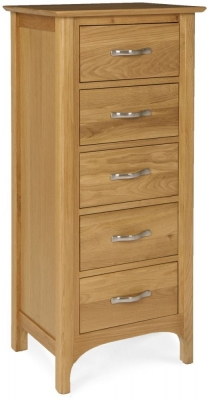 Provence Oak Wellington Chest of Drawer - 5 Drawers