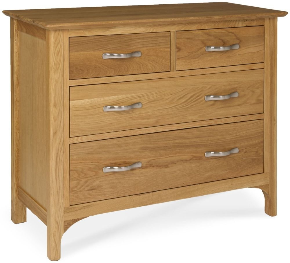 Provence Oak Chest of Drawer - 2 Over 2 Drawers