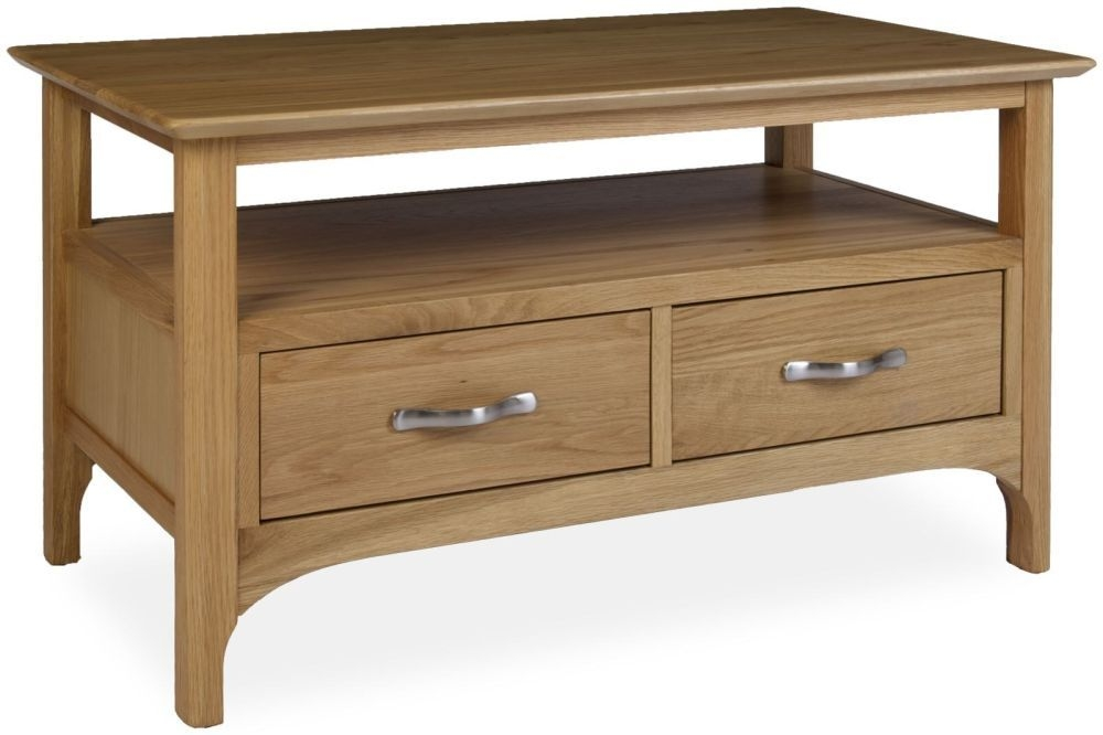 Provence Oak Coffee Table with Drawers