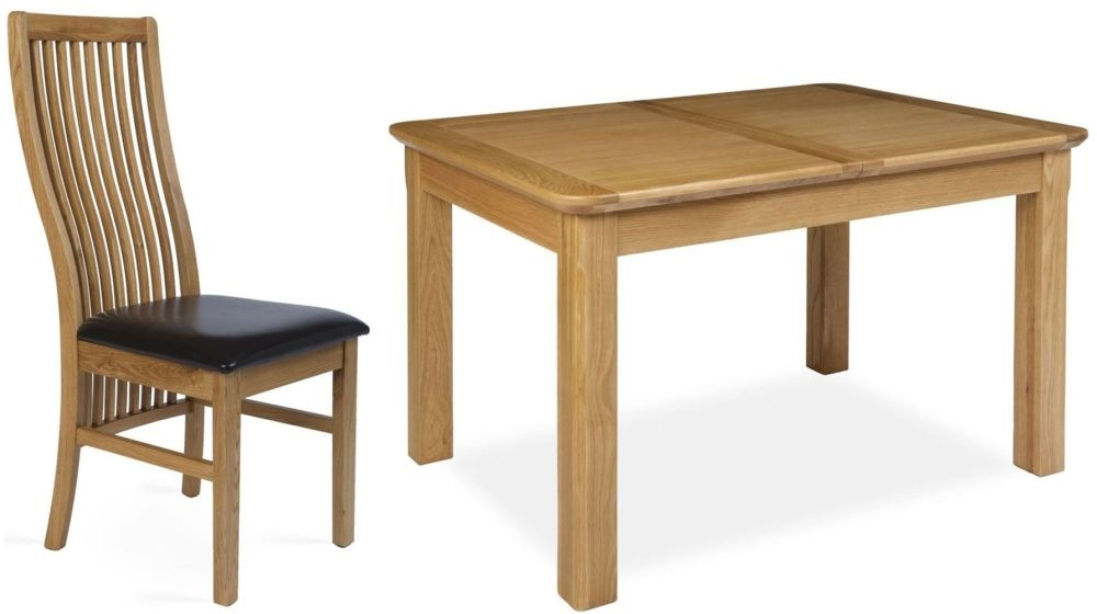 Provence Oak Dining Set - Extending with 4 Elle Dining Chairs