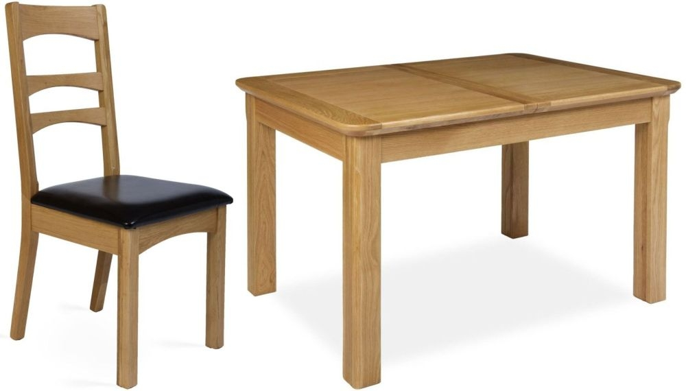 Provence Oak Dining Set - Extending with 4 Gina Dining Chairs