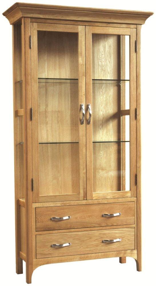 Provence Oak Display Cabinet