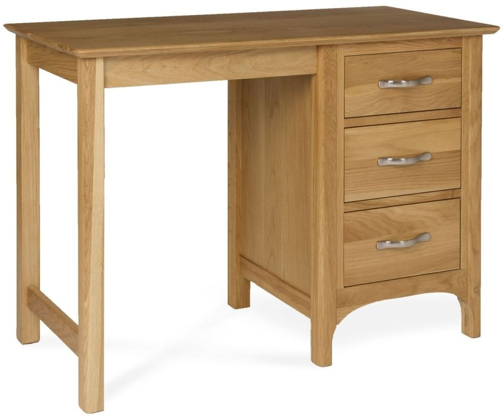 Provence Oak Dressing Table - Single Pedestal