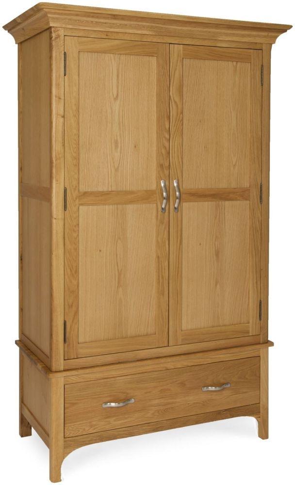 Provence Oak Wardrobe - 2 Door Gents