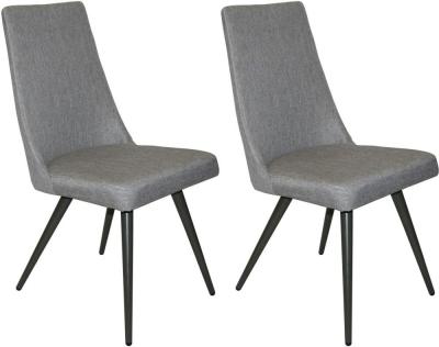 Reflex Evolution Grey Fabric Dining Chair (Pair)