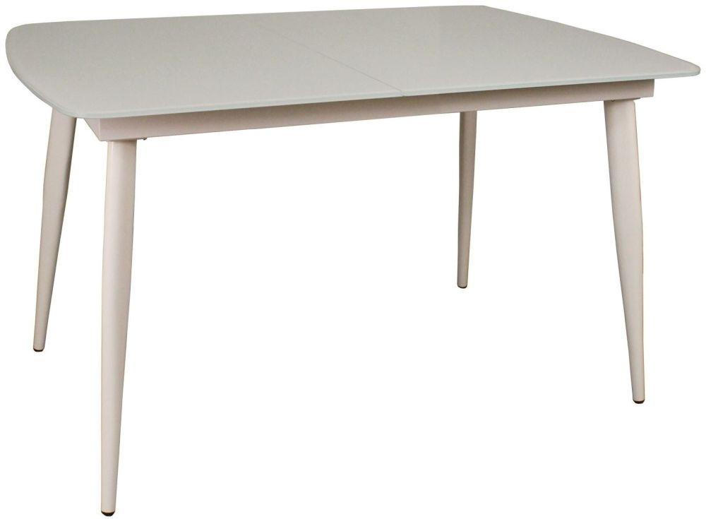 Riva White 120cm-150cm Extending Dining Table