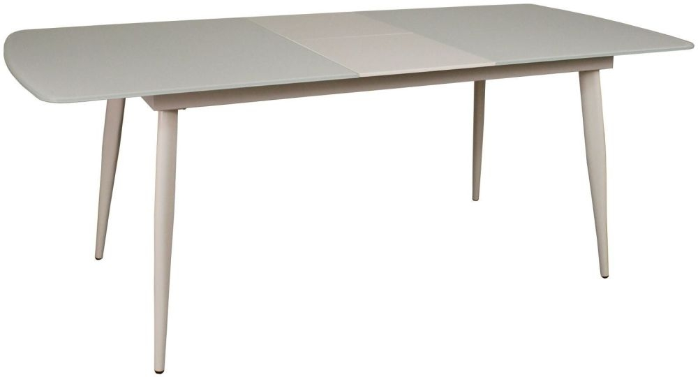 Riva White 160cm-200cm Extending Dinng Table