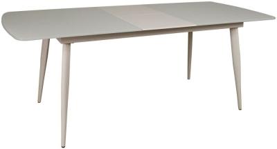Riva White 160cm-200cm Extending Dinng Table