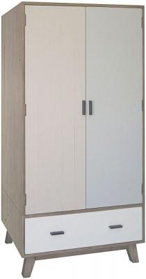 Sorrento Reclaimed Pine 2 Door 1 Drawer Wardrobe