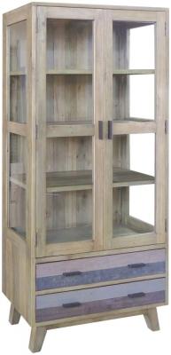 Sorrento Reclaimed Pine Glazed Display Cabinet
