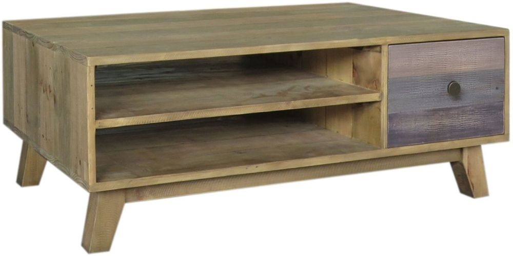 Sorrento Reclaimed Pine Storage Coffee Table