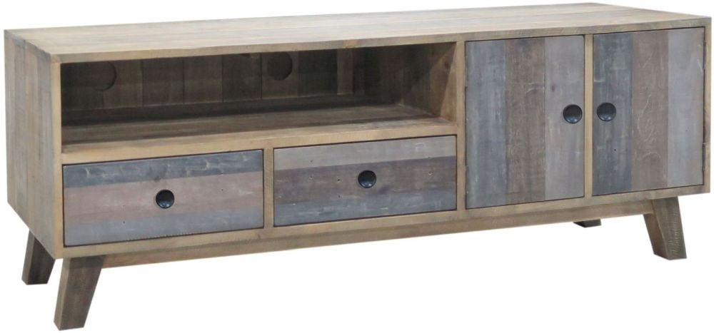 Sorrento Reclaimed Pine Large TV Unit