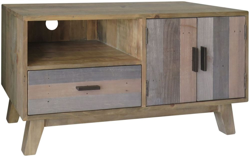 Sorrento Reclaimed Pine Small TV Unit