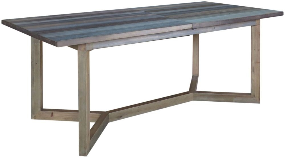 Sorrento Reclaimed Pine Rectangular Extending Dining Table - 200cm-240cm