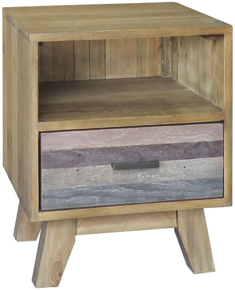 Sorrento Reclaimed Pine 1 Drawer Lamp Table