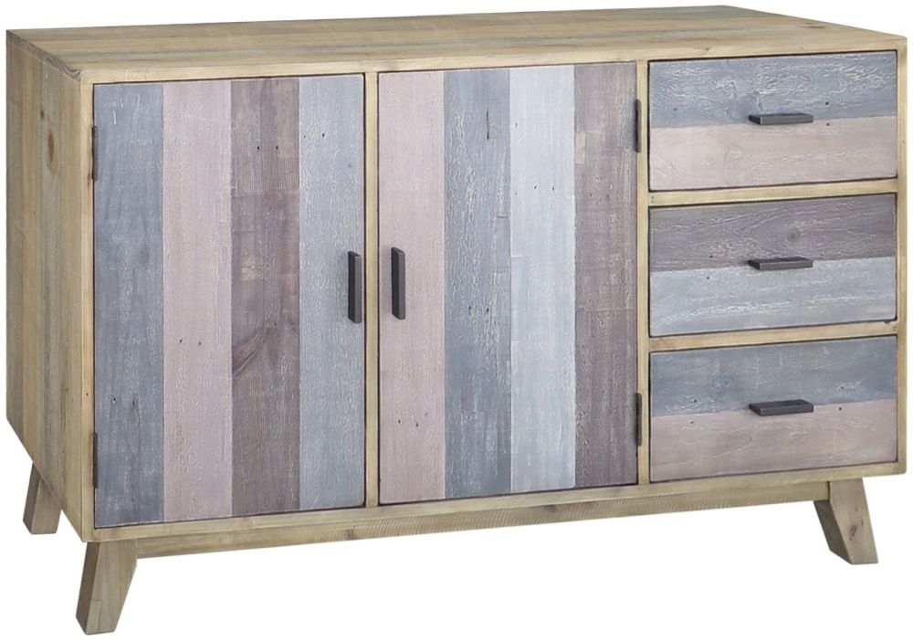 Sorrento Reclaimed Pine Sideboard - 2 Door 3 Drawer Wide