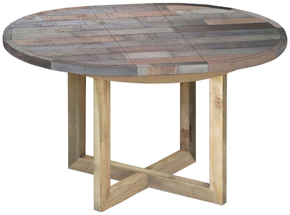 Sorrento Reclaimed Pine Extending Dining Table - Round
