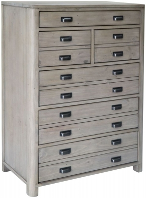 Tempest Reclaimed Pine 6 Drawer Tall Chest