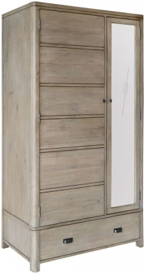 Tempest Reclaimed Pine 2 Door 1 Drawer Wardrobe