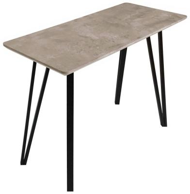 Tetro Concrete Effect Console Table