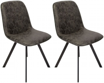 Tetro Grey Fabric Dining Chair (Pack of 4)