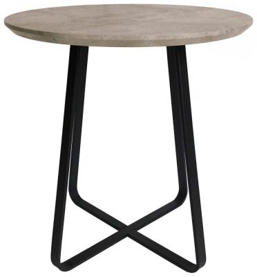 Tetro Concrete Effect Round Wine Table