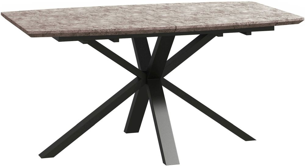 Tetro Concrete Effect 160cm-210cm Extending Dining Table
