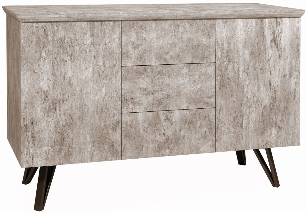 Tetro Concrete Effect Sideboard