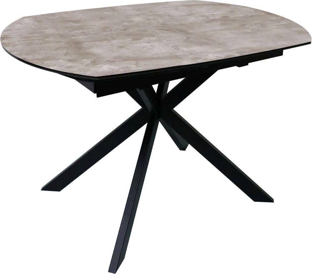 Tetro Motion Concrete Effect 120cm-180cm Extending Dining Table