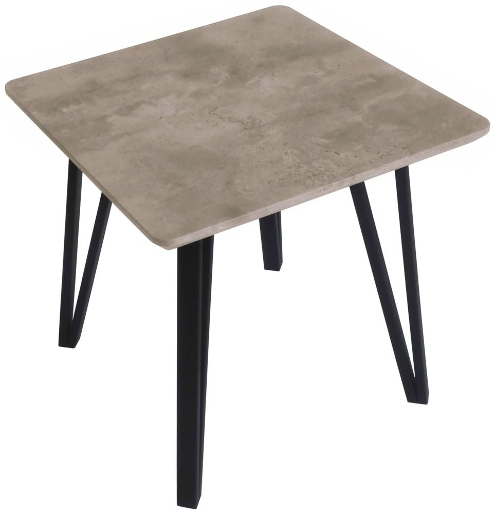 Tetro Concrete Effect Lamp Table