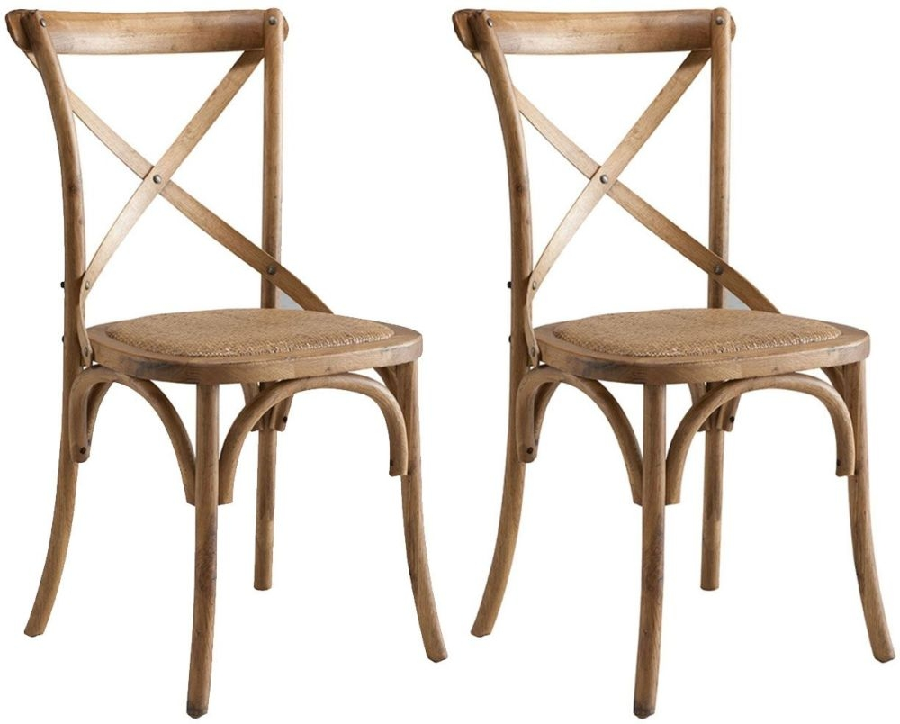 Urban Cross Back Dining Chair (Pair)