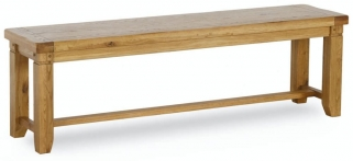 Verona Rustic Oak Bench - Large