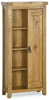 Verona Rustic Oak CD and DVD Storage