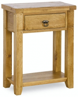 Verona Rustic Oak Console Table - Small