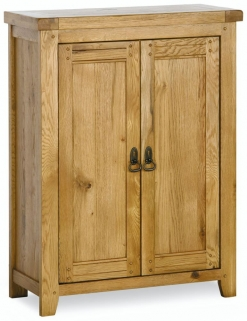 Verona Rustic Oak Cupboard - 2 Door