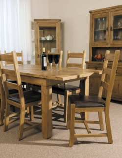 Verona Rustic Oak Dining Room Package