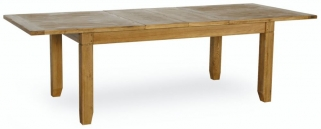 Verona Rustic Oak Dining Table - Large Extending
