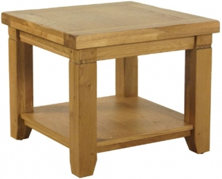 Verona Rustic Oak Lamp Table