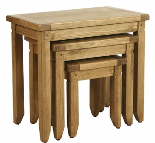 Verona Rustic Oak Nest of Tables