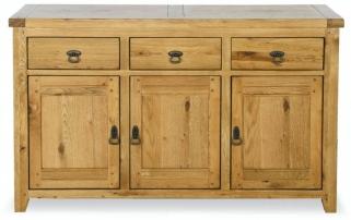 Verona Rustic Oak Sideboard - 3 Door