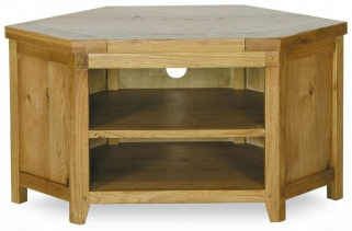 Verona Rustic Oak TV Unit - Corner