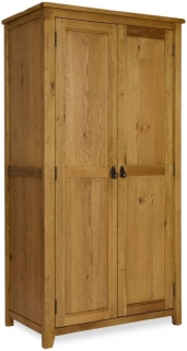 Verona Rustic Oak Wardrobe - 2 Door