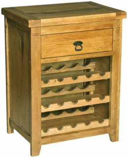 Verona Rustic Oak Wine Rack